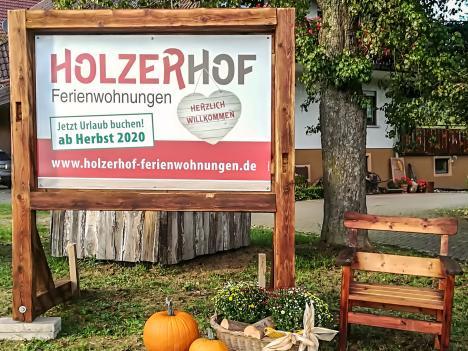 Schild Holzerhof Ferienwohnungen, Gengenbach-Reichenbach