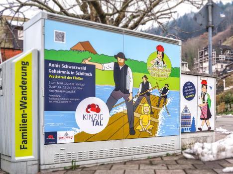 Aussenwerbung Stromkasten Schiltach