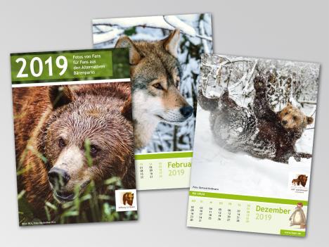Druck: Alternativer Bärenpark, Kalender 2019 für Fans