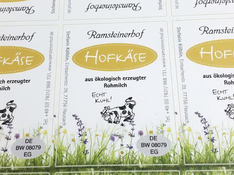 Etiketten Hofkäse, Ramsteinerhof