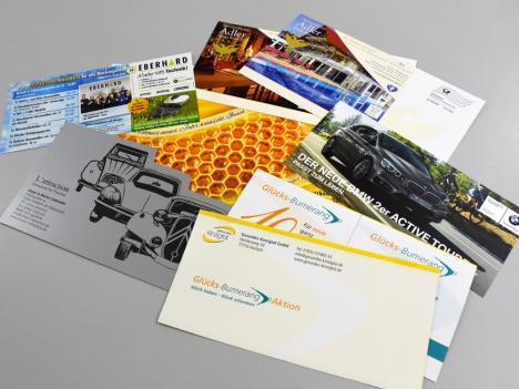 Mailings in unterschiedlichen Formaten