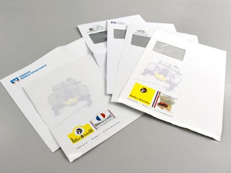 Versandtaschen in allen Formaten, mit oder ohne Sichtfenster