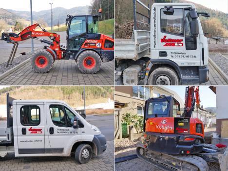 Fahrzeugbeschriftung Vollmer Bau, Wolfach