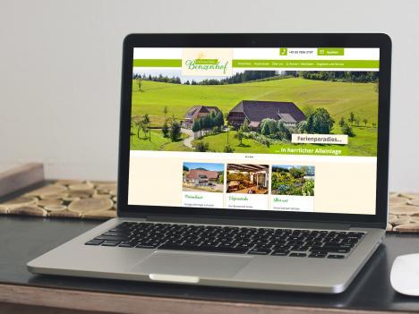 Internetseite Benzenhof, Wolfach-St. Roman