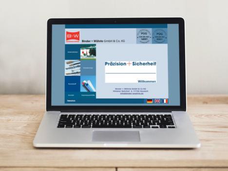 Internetseite Binder + Wöhrle, Hausach