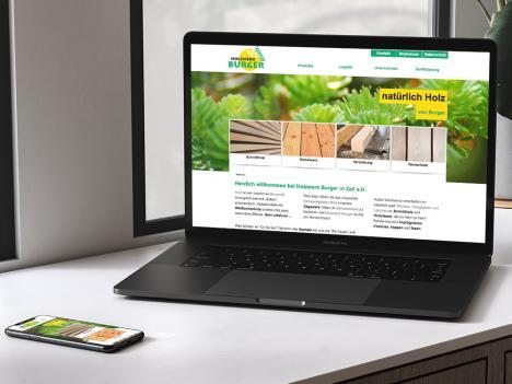 Internetseite Holzwerk Burger, Zell a.H.