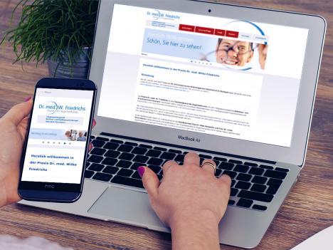 Internetseite Dr. Wilko Friedrichs, Stuttgart