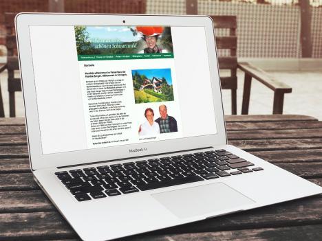 Internetseite Ferienwohnung Zanger, Wolfach-Kirnbach