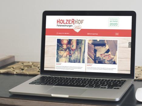 Internetseite Holzerhof Ferienwohnungen, Gengenbach-Reichenbach