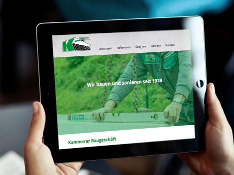 Webdesign Kammerer Baugeschäft Triberg
