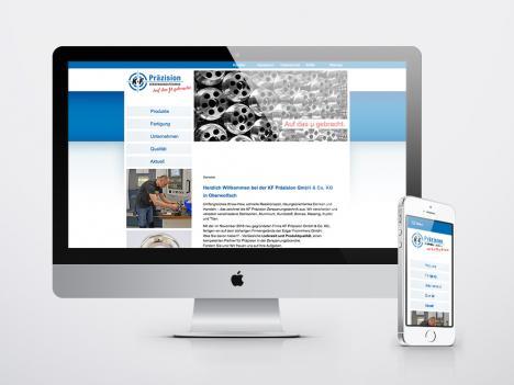 Internetseite KF Präzision Zerspanungstechnik, Oberwolfach