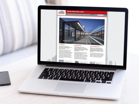 Internetseite Kienzler Stadtmobiliar, Hausach