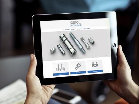 Internetseite Kunow CNC-Technik, Hausach