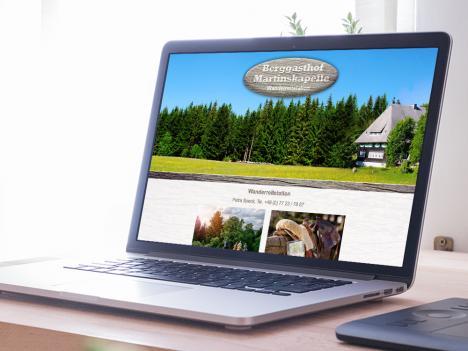 Internetseite Berggasthof Martinskapelle, Furtwangen