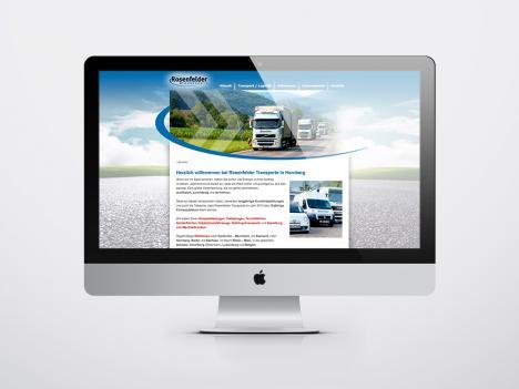 Internetseite Rosenfelder Transporte, Hornberg