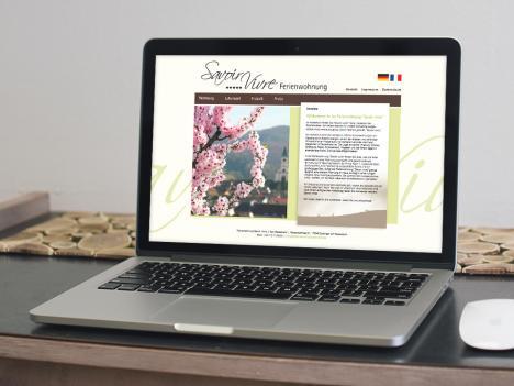 Internetseite Ferienwohnung Savoir Vivre, Endingen am Kaiserstuhl