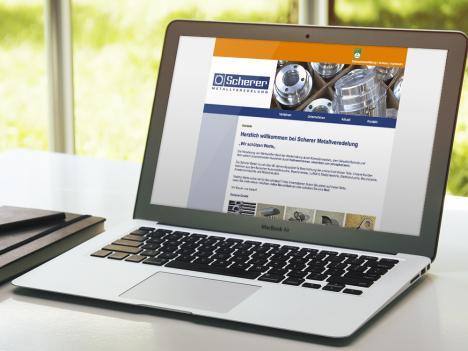 Internetseite Scherer Metallveredelung, Haslach
