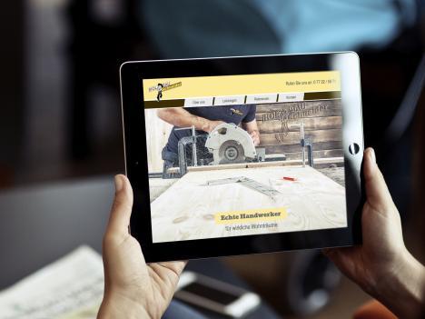 Internetseite Schneider Holzbau, Triberg