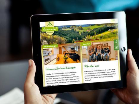 Webdesign Schornhof Ferienwohnungen