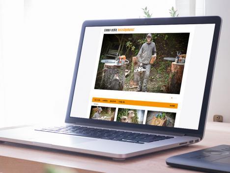 Internetseite Simon Echle Holzsägekunst, Oberwolfach