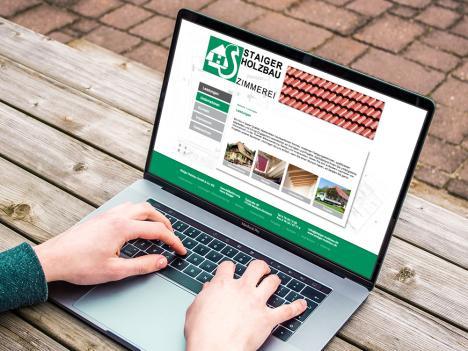 Internetseite Staiger Holzbau, Wolfach-Kirnbach