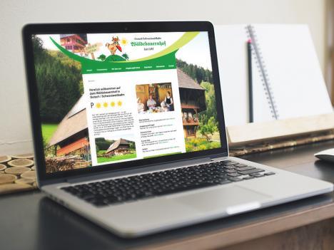 Internetseite Wäldebauernhof, Gutach