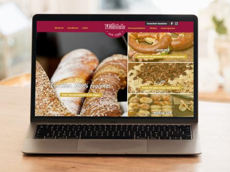 Website Bäckerei Waidele