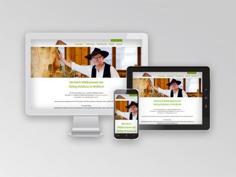 Internetseite Zeibig Holzbau, Wolfach