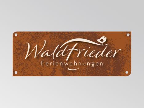 Logoentwicklung Waldfrieder Ferienwohnungen