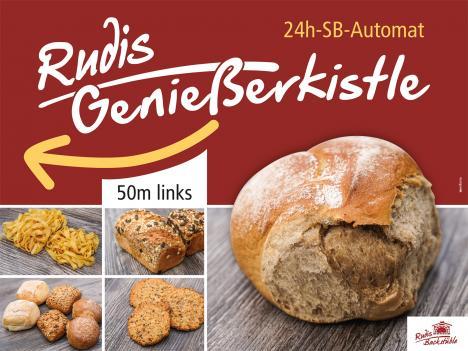Rudis Geniesserkistle Schild