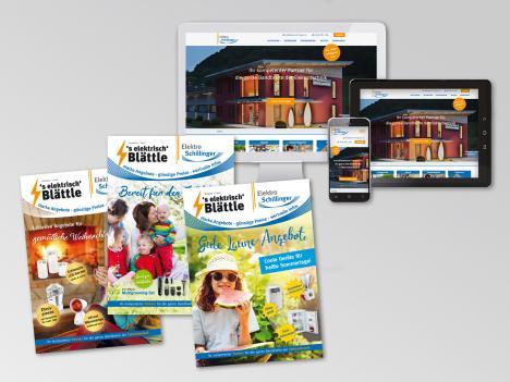 Internetseite und Drucksachen im Corporate Design