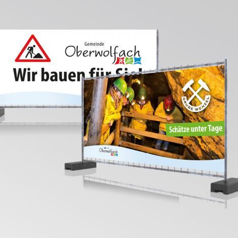 Außenwerbung: Bauhof Oberwolfach - Gestaltung von Bauzaunbannern