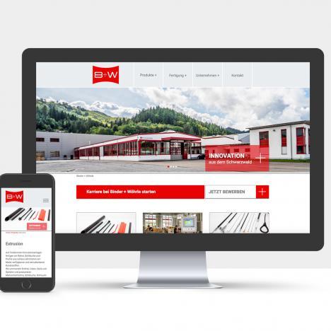 Neue Website Binder + Wöhrle