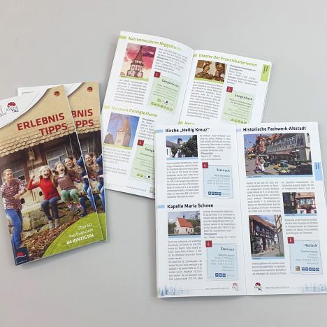 """Druck: Broschüre """"Erlebnistipps"""", Kinzigtal, Schwarzwald"""