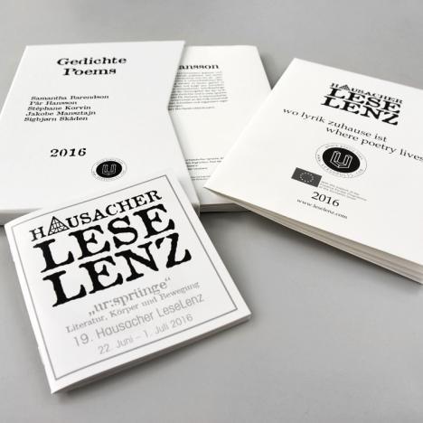 Hausacher LeseLenz: Broschüre, Schuber mit Literaturbogen