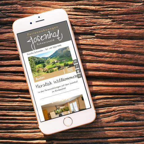 Internetseite Josenhof Wolfach-Kirnbach