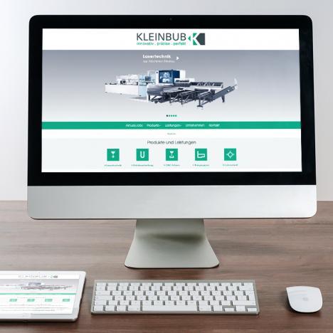 Internetseite Kleinbub Metall- und Kunststoffverarbeitung, Oberwolfach