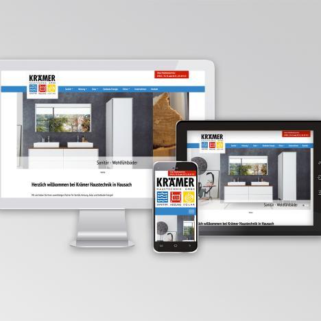 Internetseite Krämer Haustechnik