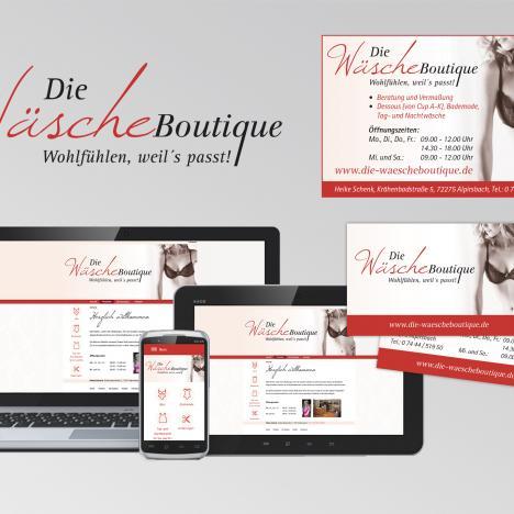 Werbestrategie Wäscheboutique, Alpirsbach