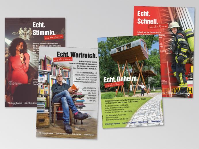 """Anzeigen: reiff medien, Offenburg, Anzeigenkampagne """"Echt."""" - Teil 2"""