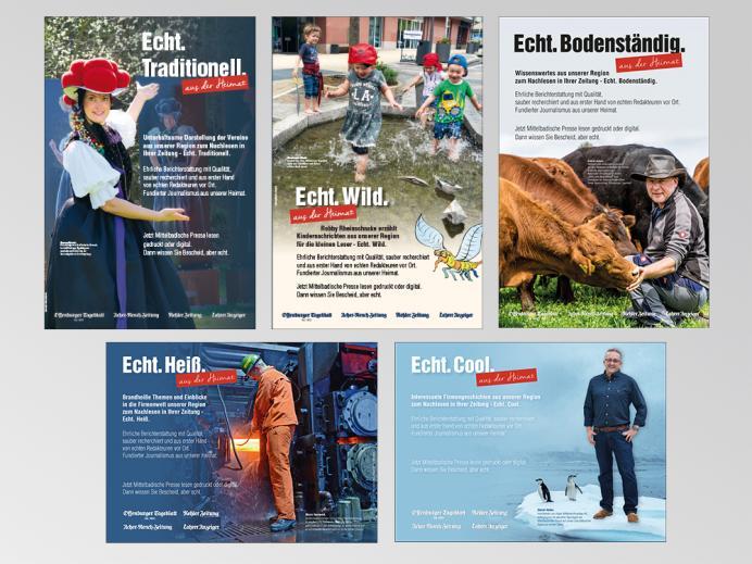 """Anzeigen:  reiff medien, Offenburg, Anzeigenkampagne """"Echt."""" - Teil 1"""