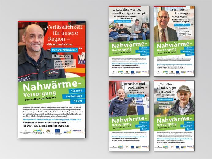 Anzeigengestaltung Nahwärme-Kampagne Oberwolfach / Wolfach