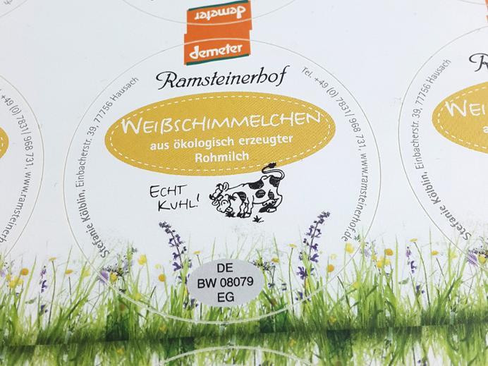 Ramsteinerhof, Etiketten Weißschimmelchen