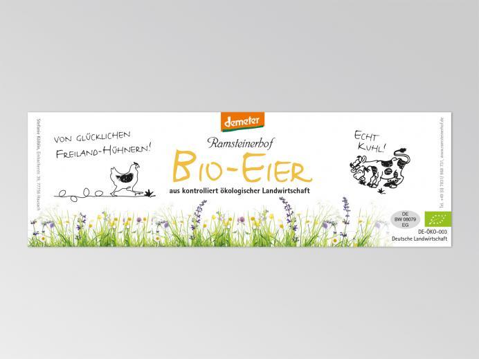 Ramsteinerhof, Etiketten für Eierschachteln