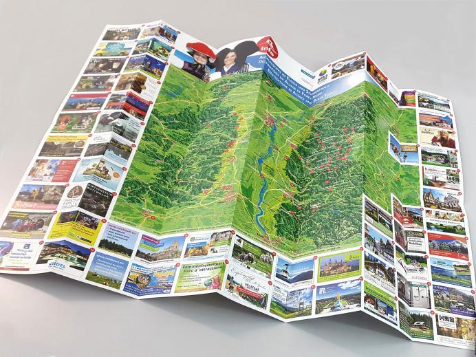 Faltplan Panoramakarte Schwarzwald/Elsass