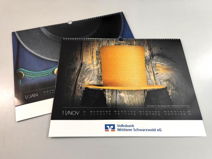 Traditionell behütet - Jahreskalender 2020 der Volksbank Mittlerer Schwarzwald