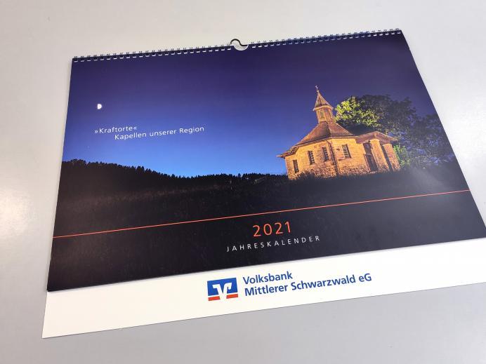 Druck Volksbank Kalender Titel 2021