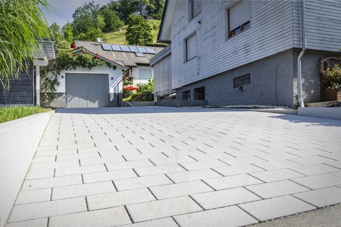 Vollmer Bau, Referenz: Gestaltung der Hofeinfahrt, Wolfach