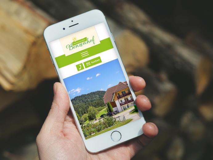 Mobile Ansicht Internetseite Benzenhof, Wolfach-St. Roman