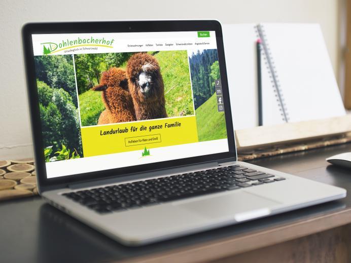 Webdesign Dohlenbacherhof, Oberwolfach
